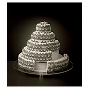 ABS insert French style round weeding cake Ø 160 mm
