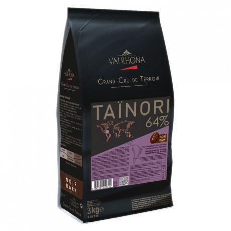 Taïnori 64% chocolat noir de couverture pur République Dominicaine fèves 3 kg