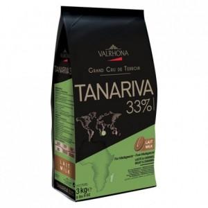 Tanariva 33% chocolat au lait de couverture pur Madagascar fèves 3 kg