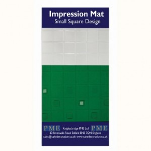 Tapis relief à pâte à sucre PME Square Small