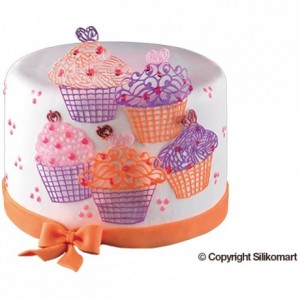 Tapis silicone dentelle Cup Cakes