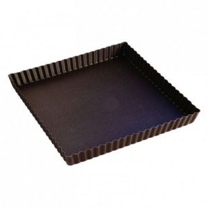 Square fluted tart mould non-stick 230x230 mm (pack of 3)