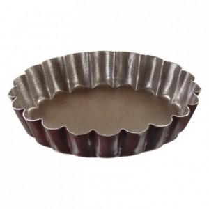 Tartelette ronde cannelée anti-adhérent Ø100 mm