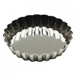 Tartelette ronde cannelée fer blanc Ø140 mm (lot de 3)