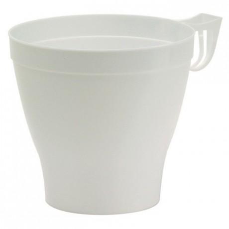 Tasse déjeuner en PS blanc 37 cL (lot de 480)