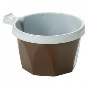 Tasse Thermoformée café/thé blanc & marron 17 cL (lot de 1000)