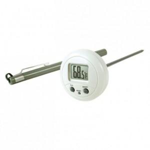 Thermomètre électronique rond -10°C à +200°C
