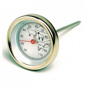 Thermomètre sonde à cadran 0°C à +120°C en inox
