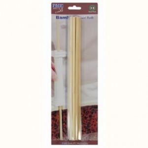 Tiges PME bambou maintien pièce montée 12 pièces