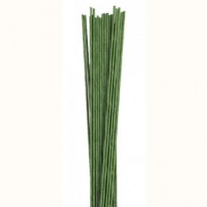 Tiges pour fleurs calibre 18 Culpitt vert foncé 20 pièces