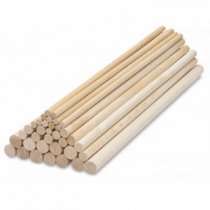 PME Dowel Rods Wood pk/12