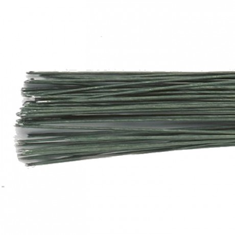 Culpitt Floral Wire Dark Green set/20 22 gauge