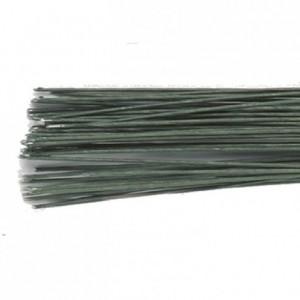 Tiges pour fleurs calibre 24 Culpitt vert foncé 50 pièces