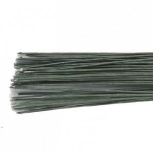 Tiges pour fleurs calibre 26 Culpitt vert foncé 50 pièces