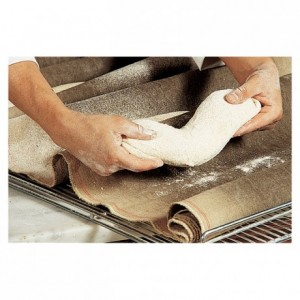 Dough fermentation cloth 100% natural linen 650 mm x 20 m