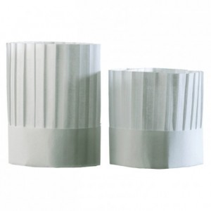 Chef pleated chef's hat without top H 180 mm (10 pcs)