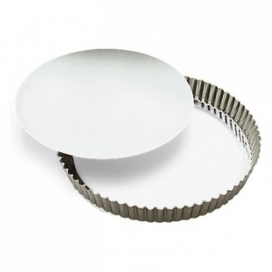 Round fluted tart mould medium deep loose bottom tin Ø280 mm (pack of 3)