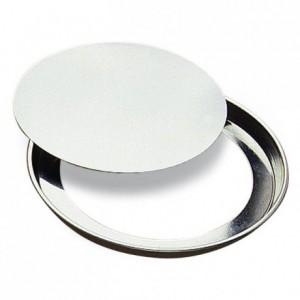 Tourtière ronde unie fond mobile fer blanc Ø240 mm (lot de 3)