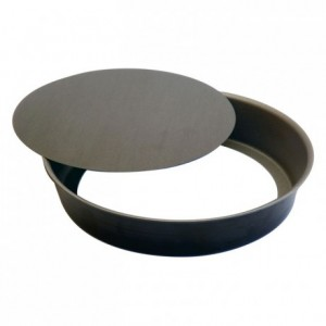 Medium deep round plain tart mould non-stick Ø180 mm (pack of 3)