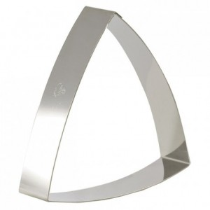 Convex triangle frame stainless steel L190 mm H 40 mm