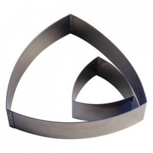 Triangle bombé inox H45 190x190 mm