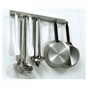 Tringle de cuisine inox L 500 mm