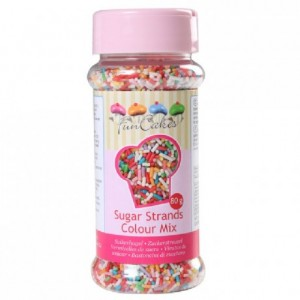 FunCakes Sugar Strands Colour Mix 80g
