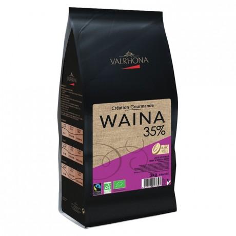 Waina 35% chocolat blanc de couverture bio Création Gourmande fèves 3 kg