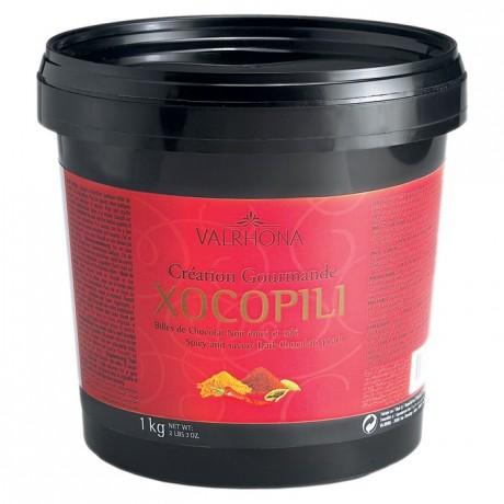 Xocopili 72% billes de chocolat noir épicé et salé 1 kg