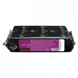 Xocoline Noire 65% chocolat noir de couverture sans sucres blocs 3 kg