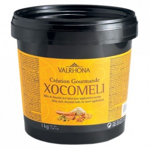 Xocoméli 57% spicy and sweet dark chocolate Gourmet Creation balls 1 kg