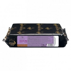 Xocoline Lactée 41% chocolat au lait de couverture sans sucres blocs 3 kg