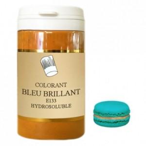 Colorant poudre hydrosoluble haute concentration bleu brillant 50 g