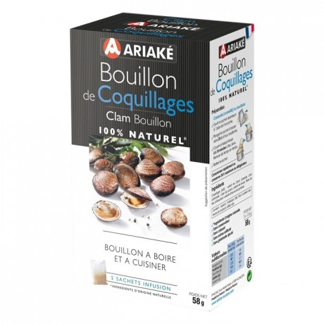 Clam Bouillon to infuse 5 sachets for 33 cL