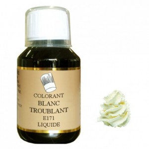 Colorant liquide hydrosoluble blanc troublant 500 mL