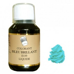 Colorant liquide hydrosoluble bleu brillant 115 mL