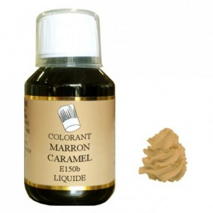 Liquid hydrosoluble colour Brown caramel 115 mL
