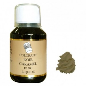 Colorant liquide hydrosoluble noir caramel 500 mL
