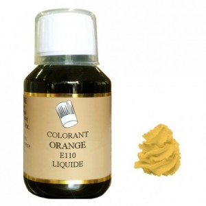 Colorant liquide hydrosoluble orange 500 mL