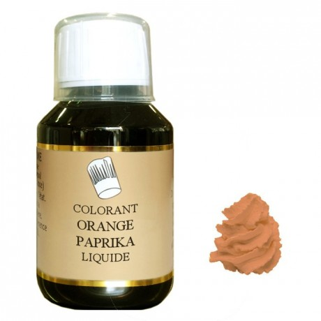 Colorant liquide hydrosoluble orange paprika 500 mL