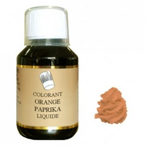 Colorant liquide hydrosoluble orange paprika 1 L