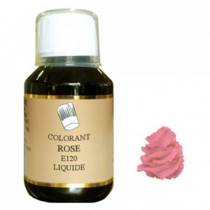 Colorant liquide hydrosoluble rose 500 mL