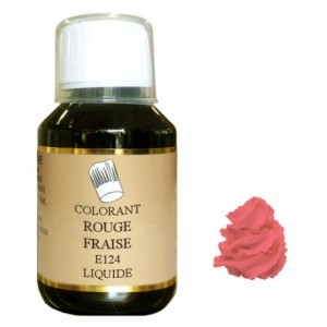 Colorant liquide hydrosoluble rouge fraise 500 mL