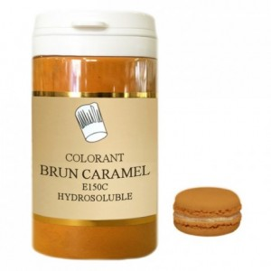 Colorant poudre hydrosoluble brun caramel 50 g