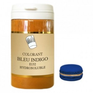 Powder hydrosoluble colour high concentration indigo blue 500 g