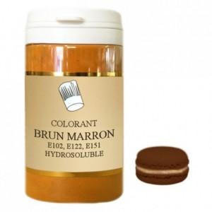 Colorant poudre hydrosoluble haute concentration brun marron 50 g