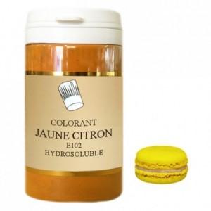 Colorant poudre hydrosoluble haute concentration jaune citron 50 g