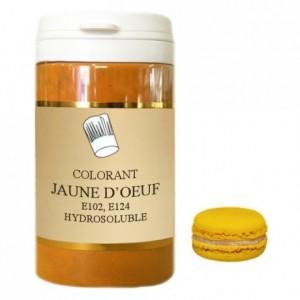 Colorant poudre hydrosoluble haute concentration jaune d'oeuf 1 kg