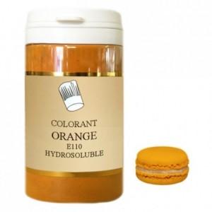 Colorant poudre hydrosoluble haute concentration orange 100 g