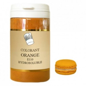 Powder hydrosoluble colour high concentration orange 100 g